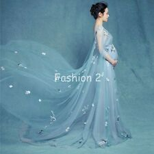 Fashion Chiffon Maternity Photography Clothes Gown Maxi Dress For Pregnant Props