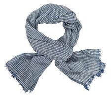 Herrenschal blau weiß Ella Jonte Schal Baumwolle Viskose maritim Unisex Auktion