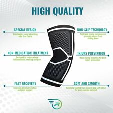 Elbow Brace Compression Sleeve - Instant Support, Protection & Pain Relief for T