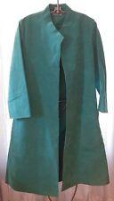 Halston 70s Iconic Vintage turquoise blue Ultra suede swing coat shirt dress s/m