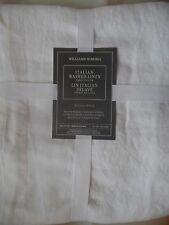 Williams Sonoma Italian Washed Linen Tablecloth. 70x108. Flax. New Snow White