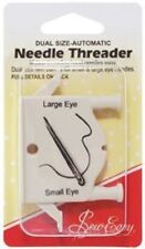 SEW EASY DUAL SIZE AUTOMATIC NEEDLE THREADER SEWING QUILTING CRAFT TOOL