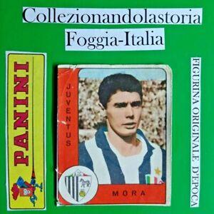 MORA, JUVENTUS CON PUNTI VALIDA-MOLTO R@R@ FIGURINA COLLEZIONE PANINI 1961/62