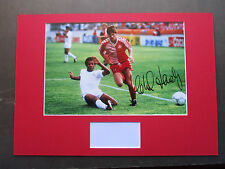 DENMARK LEGEND MICHAEL LAUDRUP PERSONALLY SIGNED A3 MOUNTED PHOTO DISPLAY - COA