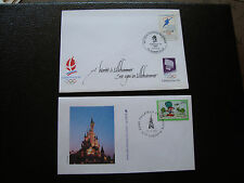 FRANCE - 2 enveloppes 1992 1994 (cy33) french