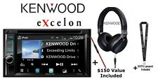 "New listing Kenwood eXcelon Ddx595 6.2"" Dvd Receiver w/ Kh-Kr900 Over the ear Headphones"