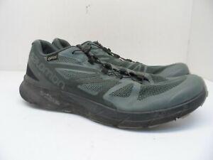 Salomon Mens Sense Ride GTX Invisible Fit Trail Running Shoes Balsam Green 11.5M