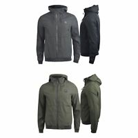 Mens Jacket  Crosshatch Fabian Hooded Windbreaker Zip Coat