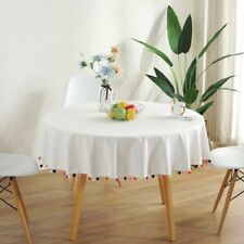 Solid Table Cloth Round Tablecloth Nappe Cover Banquet Party Wedding Home Decor