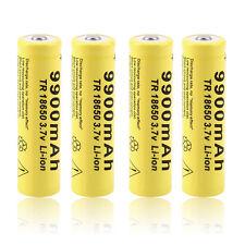 4pcs 3.7V 18650 9900mah Li-ion Rechargeable Battery For LED Flashlight Torch JH#
