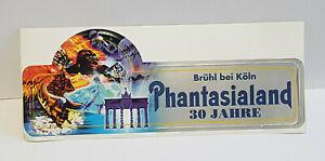 Aufkleber 30 Jahre Freizeitpark Phantasialand Brühl bei Köln.