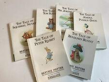 "Beatrix Potter Frederick Warne & Co Pocket Size Books Lot of 6 Mini 4"" X 5"""