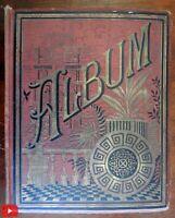 Scrap Album c. 1880-90's very nice w/ 100's of color lithographs & chromo images
