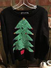 Karen Scott  NWT Christmas Sweater Women's Size OX Christmas Tree Ugly /tacky