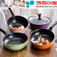 [Kitchen Art] Premium Frying pan Diamond coating Nonstick Cookware Lid 4 set B