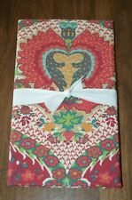 Pottery Barn Darcy Medallion Printed Patterned Standard Pillow Sham Red Nwot
