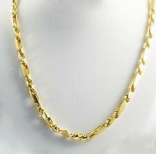 """Men's Women's Chain Necklace 22"""" 5.50 mm 61 gm 14k Yellow Gold Figarope Milano"""