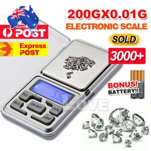 200g Pocket Digital Scales 0.01g Precision Jewellery Balance gram Scale Weight