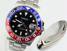 Parnis 40mm Black dial Automatic Date Red GMT Sapphire glass men Wristwatch 1544