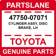 47750-07071 Toyota OEM Genuine CYLINDER ASSY, DISC BRAKE, LH