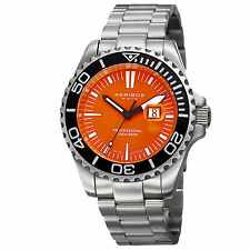 Men's Akribos XXIV AK735OR Limited Edition Orange Dial Diver Date Bracelet Watch