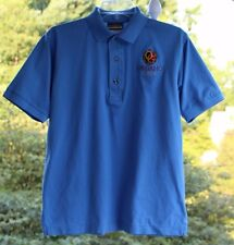 Outer Banks Reserve Mens sz Small Blue Organo Gold Coffee Polo Golf Shirt