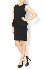Tibi Black Peplum Dress