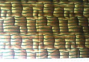 Brown/Green Basket Print Fabric - 112cmx60cm