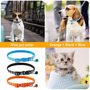 Benala Pet Safety Adjustable Kitten Collar with Retro Bell Safety Release Buckle Dog cat Necklace
