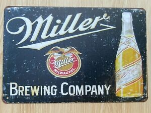 Miller Brewing Company Beer Bottle Tin Sign Brand New 8x12 Wall Decor
