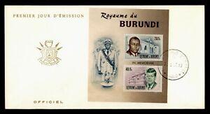 DR WHO 1966 BURUNDI FDC JOHN F KENNEDY JFK S/S  f94551