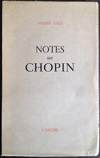 Notes sur Chopin, de André Gide - 1948