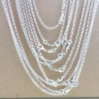 """Bulk 925 Silver """"o"""" Chains Necklace 16-30inch 2.5mm Jewelry Findings For Pendant"""