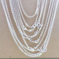 """Bulk 925 Sterling Silver """"O"""" Chain Necklace 2.5mm Jewelry findings for Pendant"""