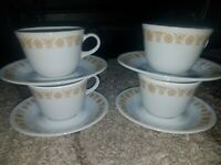 Corelle Gold Butterfly Livingware by Corning Made in USA coffee/tea cup & saucer