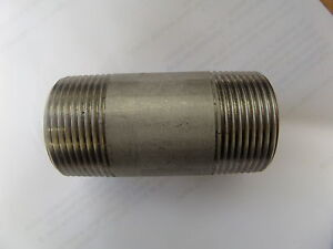 BSP Fittings - Stainless Steel  - Threaded - Barrel Nipple