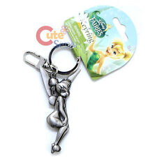 Disney TinkerBell Pixie Silver Pewter Key Chain Key Ring -Touch Knee