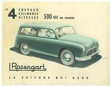 Rosengart  Folder  Station Wagon Sedan Delivery   1955