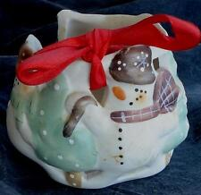 Nice Vintage Ceramic Christmas Votive Candle Holder, Very Good Condition