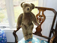 UK Britain CANTERBURY Bear 1984 Vintage Brown Mohair 2 Feet 24 Inch RARE