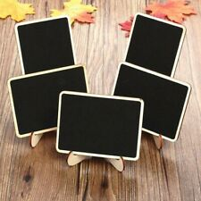 Mini Wooden Message Blackboard Chalkboard with Stand Small Black Notice Board.