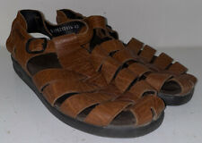 Mephisto Mens Brown Leather Clip On Comfort Shoes Size 43 EUR 10 USA