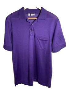BRIONI Men's Purple Polo Shirt Size M Tee Shirt ***Made in Itay*** RRP $600