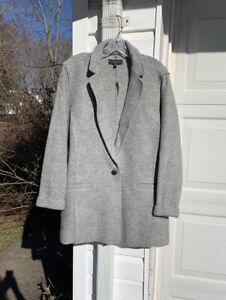 NWT Talbots Beautiful Gray Boiled Wool Blend Coat 18W 2X