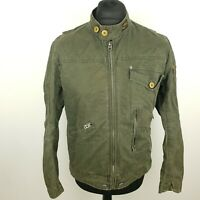 G-Star Raw Womens Jacket Military Jacket LARGE Coat Bomber Green Cotton