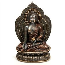 "MEDICINE BUDDHA STATUE 11"" Beautiful Buddhist Deity HIGH QUALITY Bronze Resin"
