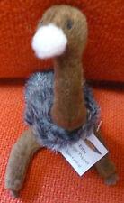 AUSTRALIAN ANIMAL GIFT EMU Soft Material FINGER PUPPET - Pack 6 Puppets