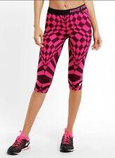 Nike Tights Pro Engineered Warped Check Dri-Fit Capri Pink/black XS