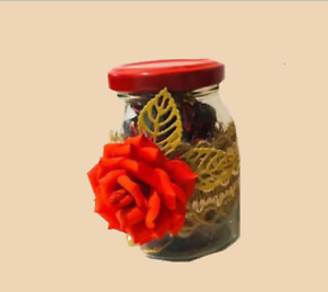 Decorated Candy Bottle Decoration Handmade Candle Plaque Crochet Glass  partys