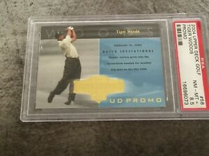 2004 Upper Deck Golf Tiger Woods UD Promo Card #58 Etched in History PSA 8.5 NM